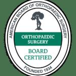 My Certified Orthopaedic Surgeon